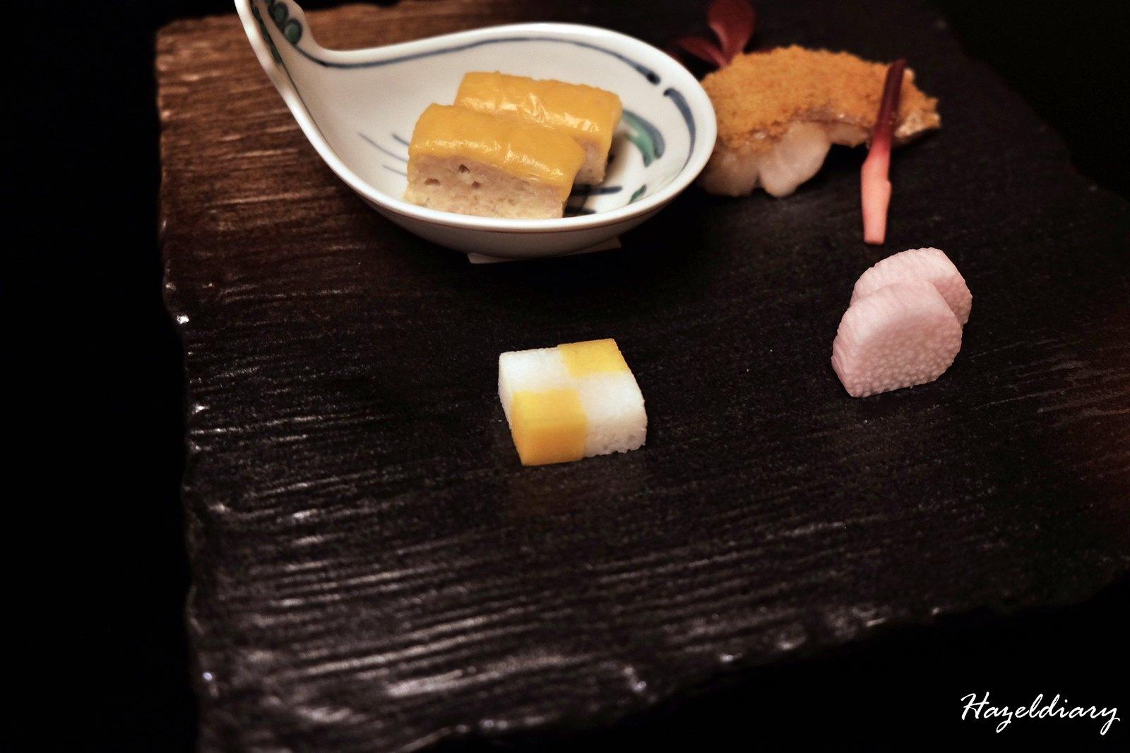 kaiseki soujuan keio plaza hotel tokyo-chicken, egg, fish