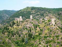 Chateaux de Lastours from Belvedere - Photo of Villeneuve-Minervois
