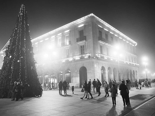 Navidad en blanco y negro. #b&w #pamplona #navidad #xmas #nadal #blancoynegro #olympus #navarra
