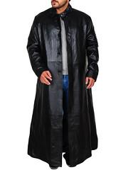 Keanu Reeves The Matrix Black Leather Coat