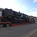 34053 Sir Keith Park steam locomotive on the back of a lorry - Warwick Road, Tyseley