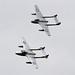 J1196_De_Havilland_DH100_Vampire FB6_(LN-DHY as VZ305_RAF)_&U1230_De_Havilland_DH115_Vampire_T55_(LN-DHZ_as_WZ447_RAF_SwissAF_Duxford20180922_2