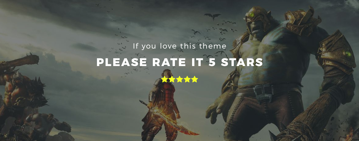 rate this theme 5 stars - Leo Gamestop - Games Store Prestashop theme