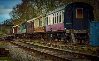 Old carriages in sidings | by taylortony