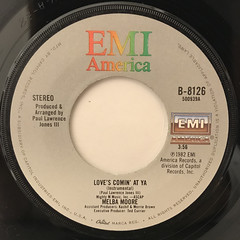 MELBA MOORE:LOVE'S COMIN' AT YA(LABEL SIDE-B)
