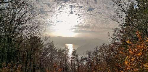 Stausee Hohenwarte im Nebel