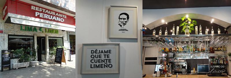 Lima Limón, decoración y barra del restaurante