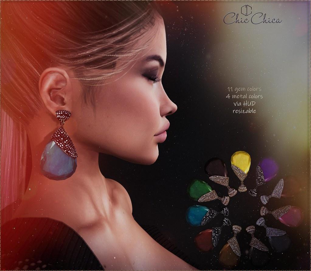 Sumru earrings by ChicChica @ Cosmopolitan - TeleportHub.com Live!