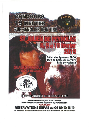 affiche concours chasse