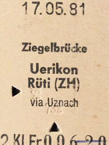 Bahnfahrausweis Schweiz