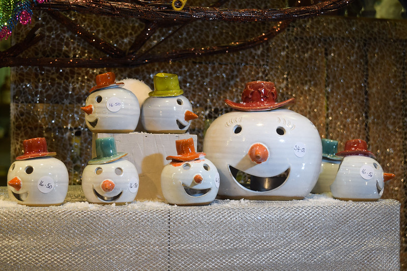 Canterbury Pottery Snowman Tealight Holders