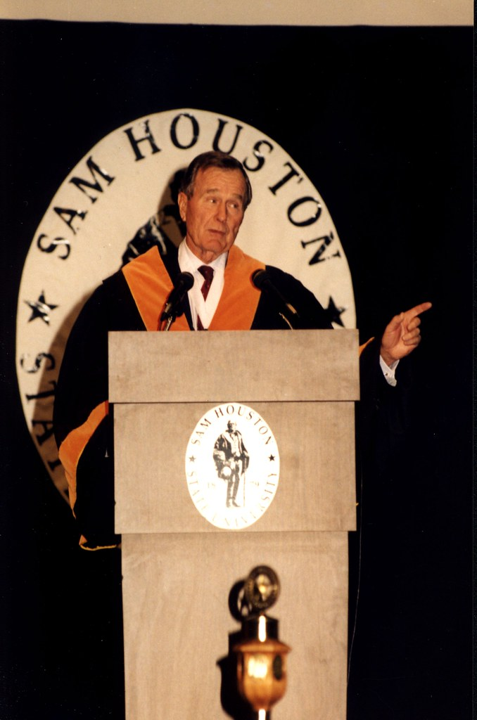President George H.W. Bush on Campus in 1998