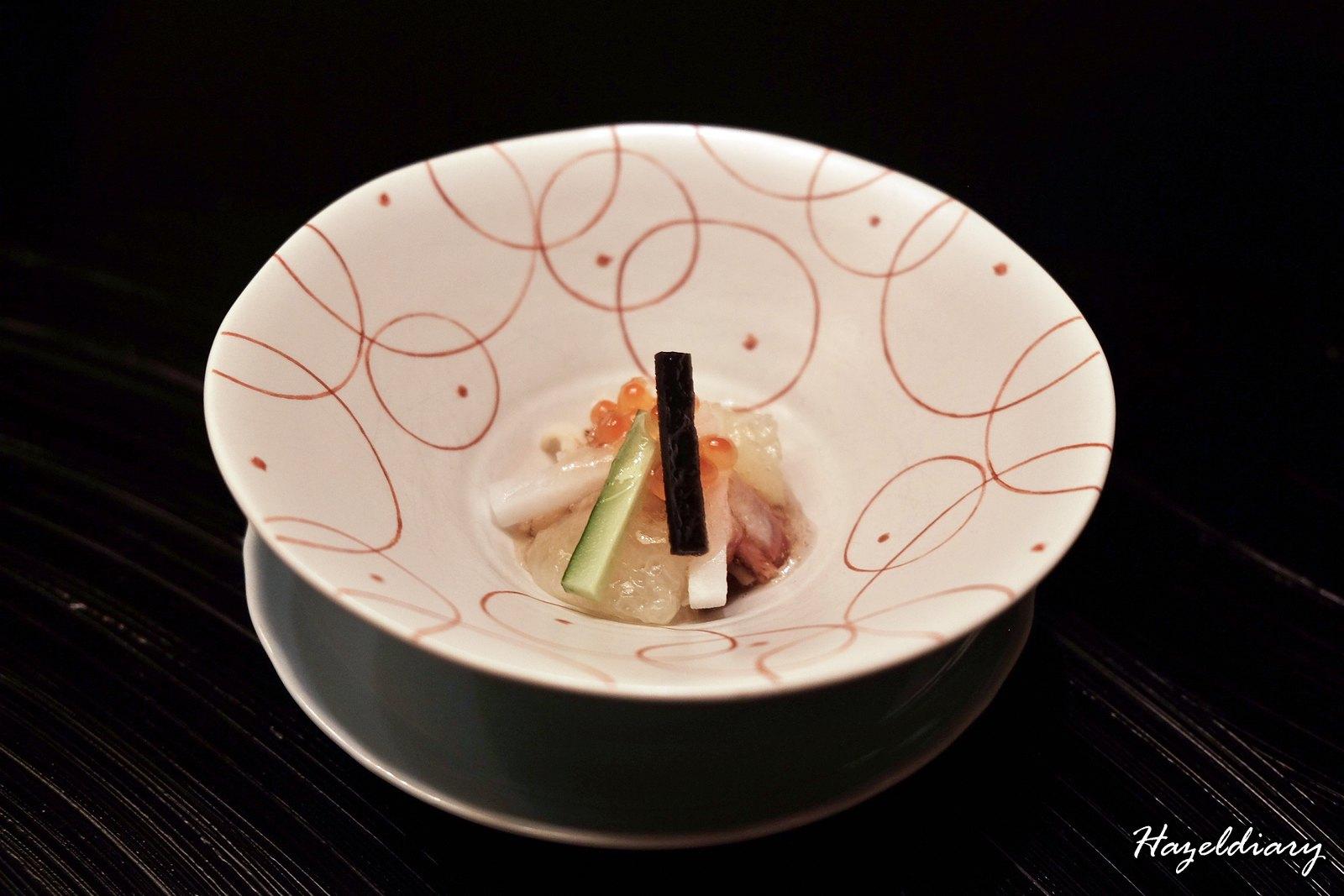kaiseki soujuan keio plaza hotel tokyo-vinegard dish