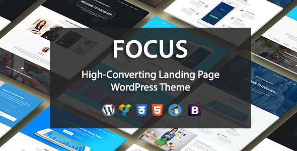 Focus v1.1 – High-Converting Landing Page WordPress Theme