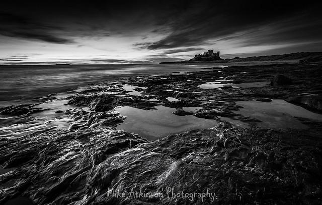 Bamburgh At Day-Break (Mono), Canon EOS 600D, Sigma 10-20mm f/4-5.6