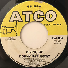 DONNY HATHAWAY:GIVING UP(LABEL SIDE-A)