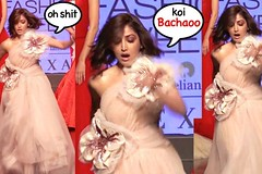 Yami Gautam Nearly Falls On Stage At Lakme Fashion Week