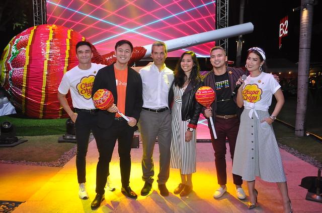 L2R Vince Velasco, Shopee PH Martin Yu, PVM Gerard Orriols, Denise Opulencia, Eugen Soriano, and Janeena Chan