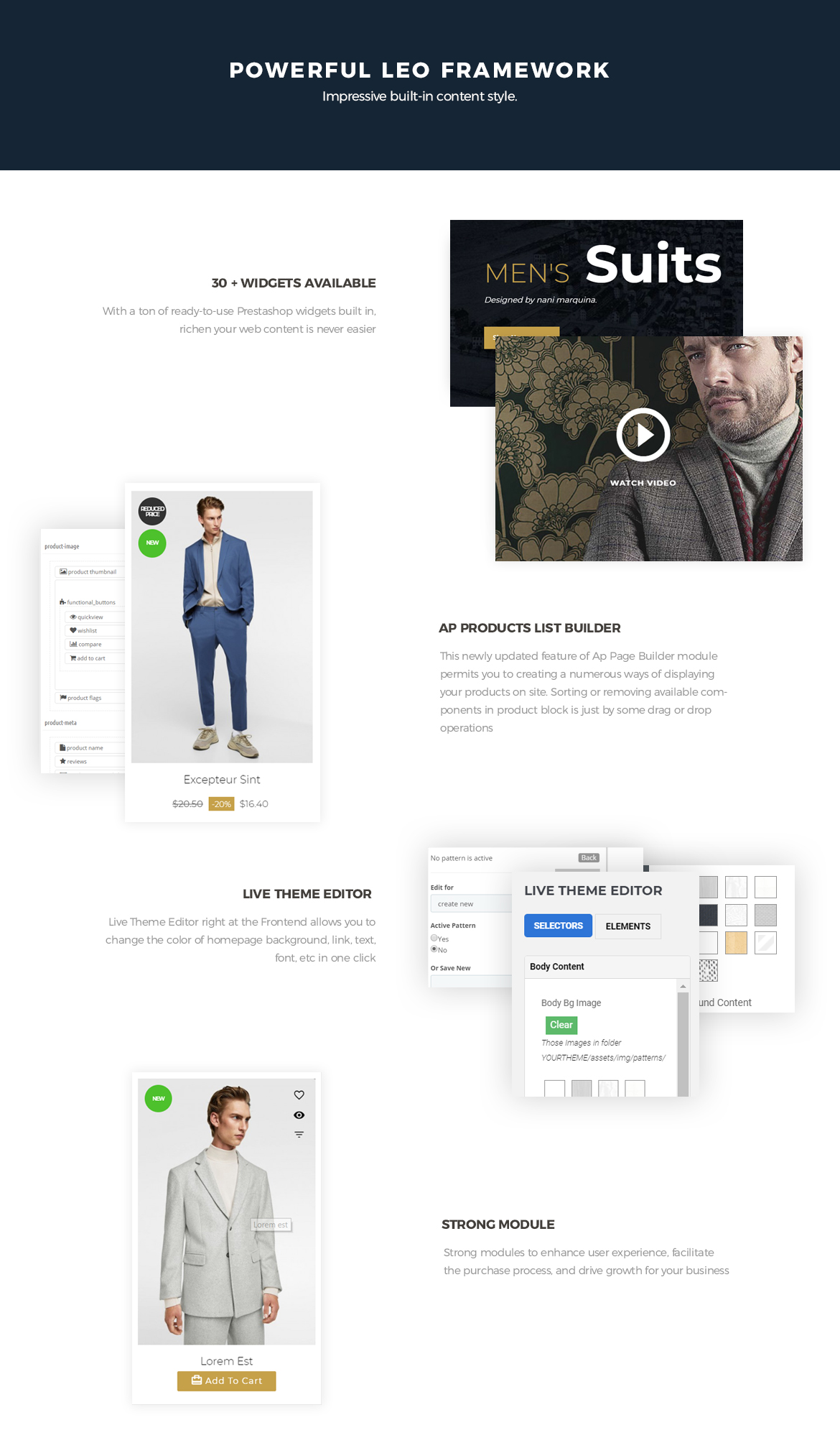 Powerful-Leo-Framework -Bos Soucer - Men Fashion and Accessories Prestashop Theme