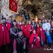 Visita de las Cofradías Gastronómicas de Asturias al Real Sitio de Covadonga para efectuar una ofrenda a la Santina..