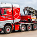 Ant Bennet from Chris Bennett Heavy Haulage in His STGO3 Merc 8x4  4163 & Nooteboom Modular Trailer Loaded with a Pile Driver headed for Kings Cross Area of London....