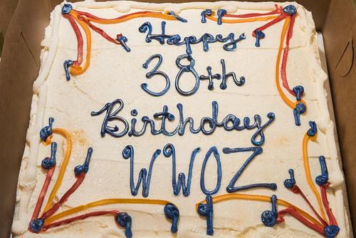 Cake at WWOZ's 38th birthday celebration - 12.4.18. Photo by Ryan Hodgson-Rigsbee rhrphoto.com.