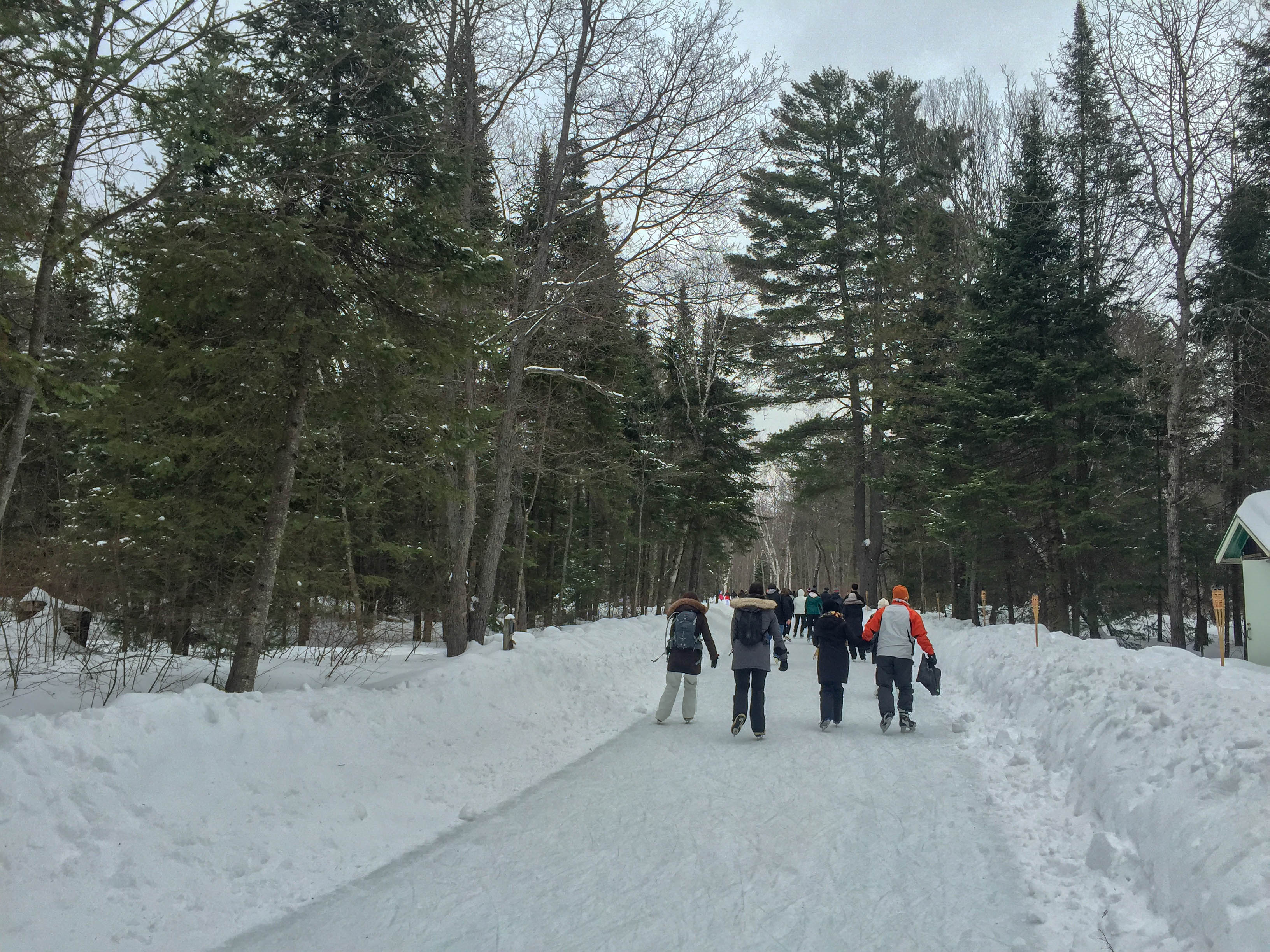 Arrowhead Provincial Park - ice skating loop