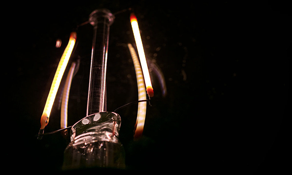 abstract light bulb macro