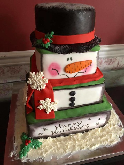 Snowman Cake by Sinfully Sweet Custom Cakes NJ