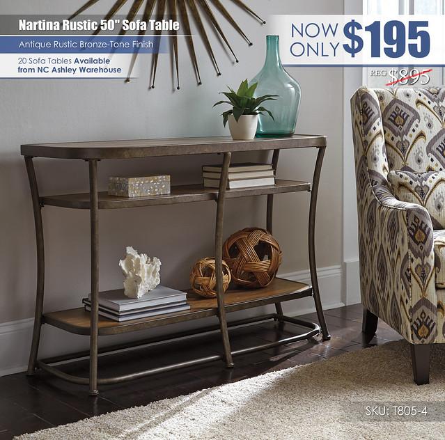 Nartina Rustic Sofa Table_T805-4