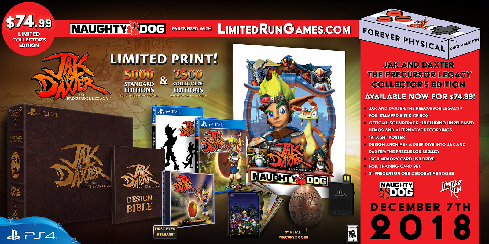 Jak and Daxter Gets Physical PS4 Versions, Collector's