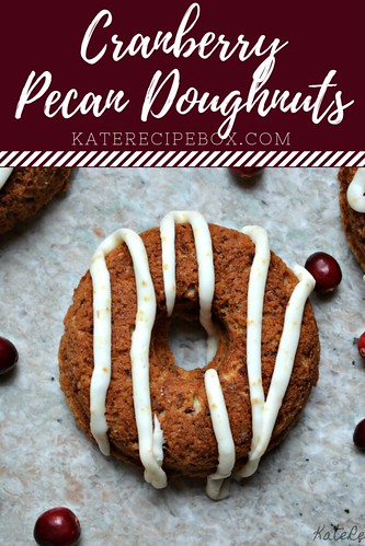 Cranberry Pecan Doughnuts | by katesrecipebox