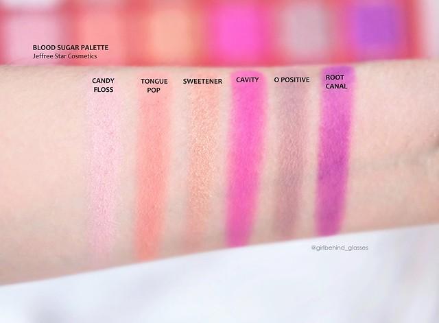 Jeffree Star Blood Sugar Palette swatches row2