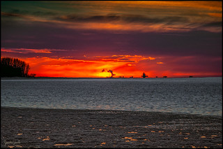 Incendie à l'horizon / Fire on the horizon
