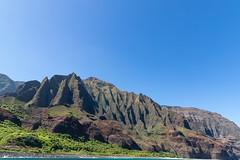 Na Pali Coast mountains Kauai Hawaii
