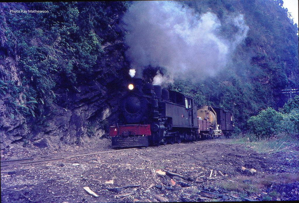 Weed spray train Rewanui incline.