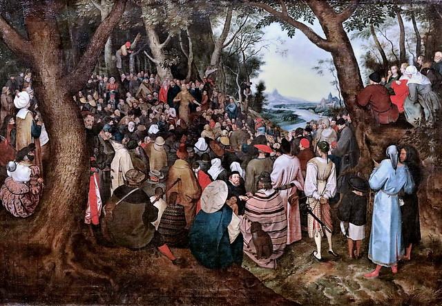 Photo:IMG_1048 Pieter Bruegel 1526-1569 Anvers Predigt Johannes des Täufers. La prédication de Jean Baptiste Homily of John the Baptist Schwerin.Staatliches Museum Copie vers 1600 By jean louis mazieres