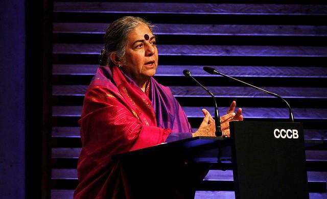 Vandana Shiva, filósofa, física e vencedora do Prêmio Right Liverhood  - Créditos: Mariona Batllés