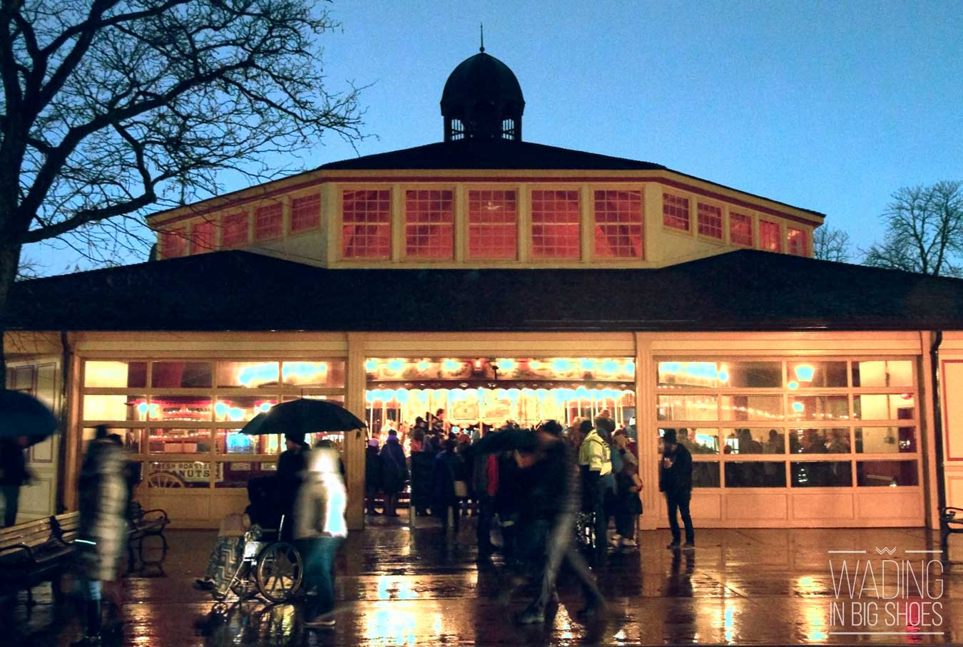 What Happens When It Rains During Holiday Nights In Greenfield Village? (via Wading in Big Shoes)