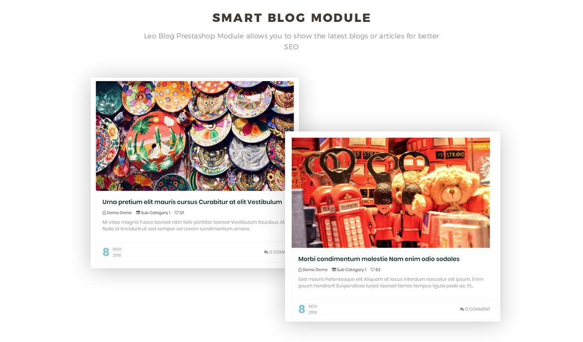 smart blog module - Leo Zurich - Gifts and Souvenirs shop