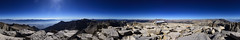 Full circle on top of California
