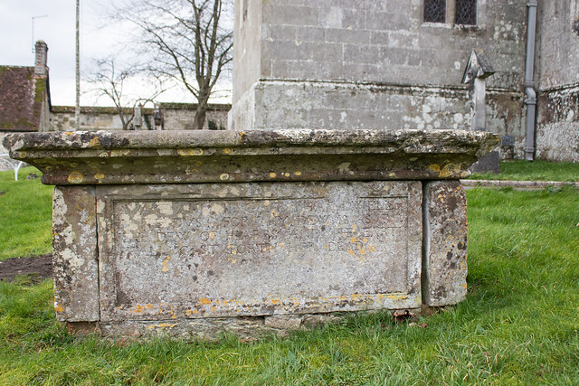 Inscription, Agnes Mew table tomb, Iwerne Courtney II