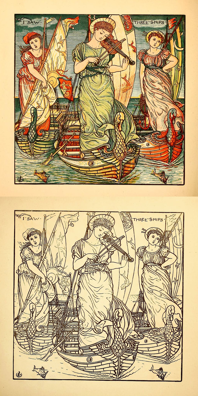 Walter Crane painting book
