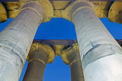 1999.10.074 LOUXOR - Le  temple - Colonnades d'Aménophis III de nuit