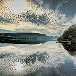 18. Märts 2019 - 13:11 - A mirror calm Ullswater lake, Cumbria, England. The perfect reflection has dampened down the noise nicely. It needed more than my polarising filter but this was a handheld snap and go...