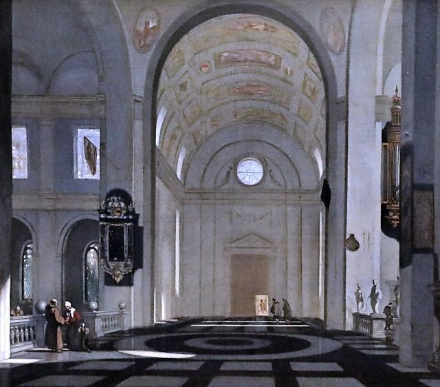 Photo:IMG_1027 Emmanuel de Witte. 1616-1692 Amsterdam Intérieur d'une église renaissance.  Interior of a Renaissance church. Schwerin.Staatliches Museum By jean louis mazieres