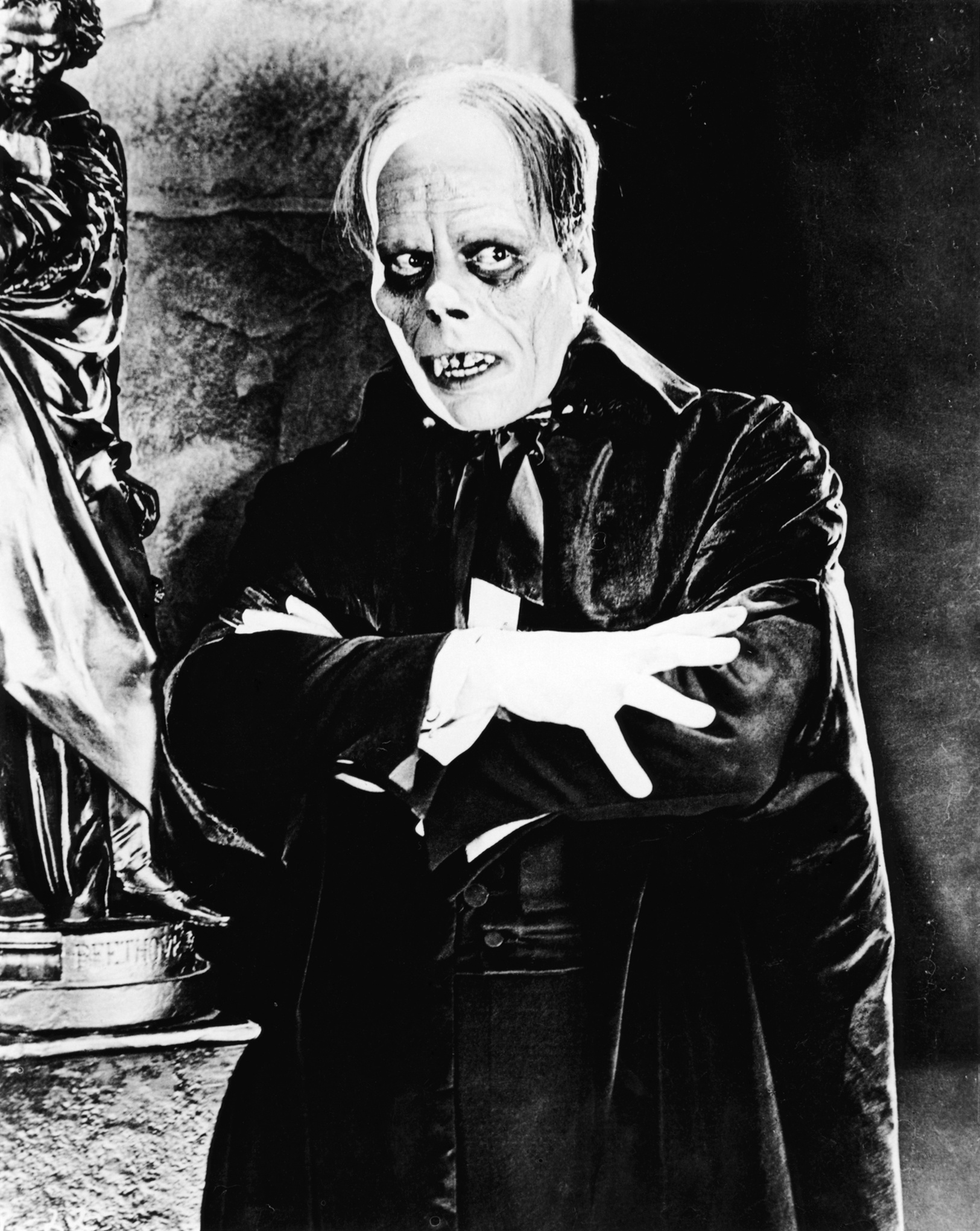 Scan of still of Lon Chaney in The Phantom of the Opera (1925)