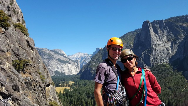 North Dome, Clouds Rest, and Half Dome again -- this time from Manure Pile Buttress by bryandkeith on flickr