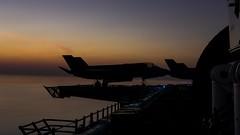 An F-35B Lightning II s staged aboard USS Essex (LHD 2).