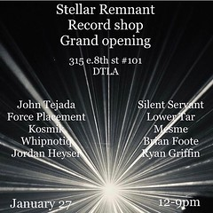 LA! Come listen to great music and buy great records! All vinyl ASIP set to kick things off 12-1pm @stellarremnant